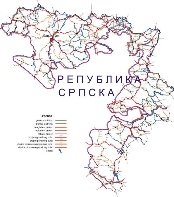 auto karta republike srbije Javno preduzece Putevi Republike Srpske auto karta republike srbije