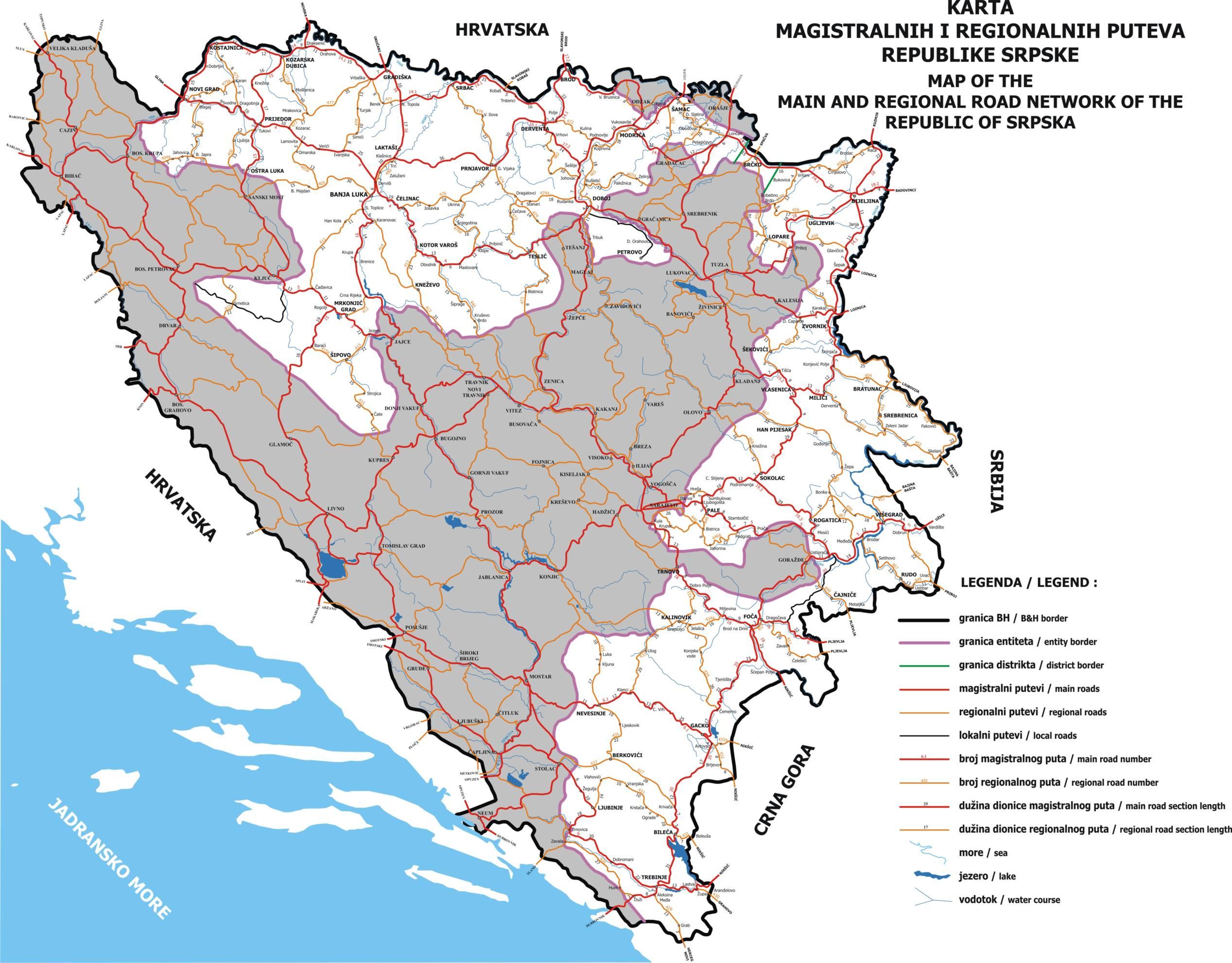 Mapa Republike Srpske